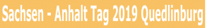 Sachsen-Anhalt Tag 2019