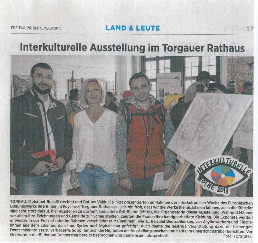 Interkulturelle Ausstellung im Torgauer Rathaus