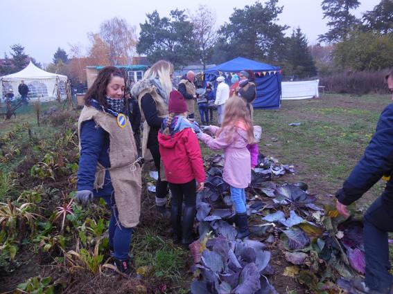 Schüler besuchen Bauernhof