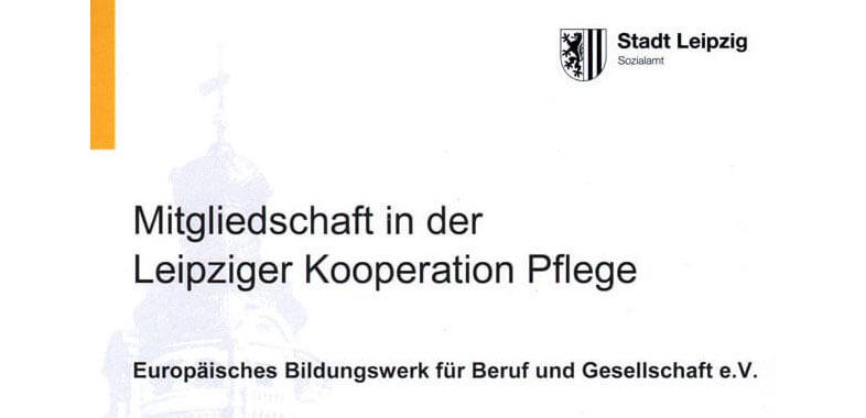 Mitgliedschaft in der Leipziger Kooperation Pflege