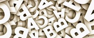 Buchstaben symbolisch für Deutschunterricht